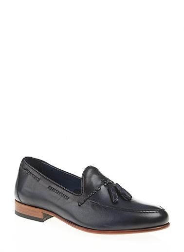 %100 Deri Loafer-Greyder